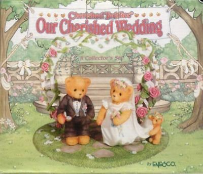Cherished Teddies OUR CHERISHED WEDDING Set of 3 Cake Topper- MIB ENESCO bears