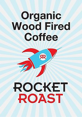 Wood-fired  Organic Coffee Beans Rocket Roast 2.5kg