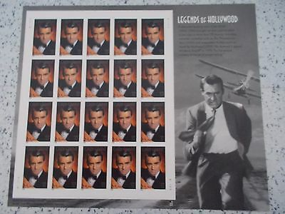 #3692 2002 LEGENDS OF HOLLYWOOD CARY GRANT Mint MHN/PANE 20 37 Cent Stamps