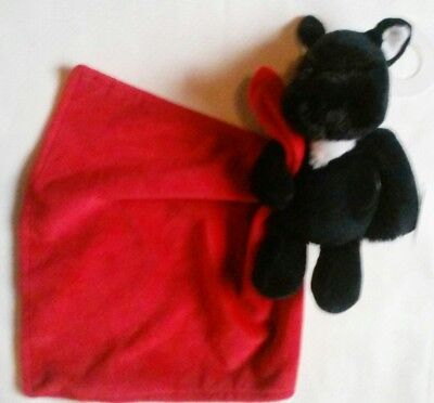 NWT Carter's Plush Scottie Dog Red Baby Lovey Security Cuddle Blankie Rattle New