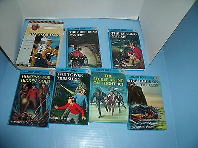 Lot Of 7 The Hardy Boys Franklin W. Dixon*hunting For Hidden Gold*missing Chums