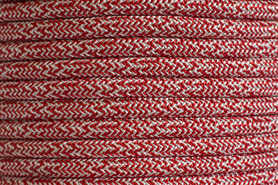 High Performance Polyester Double Braided 10mm X 100 Metre Reel Red/White