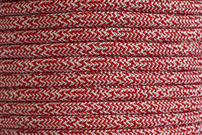High Performance Polyester Double Braided 14mm X 100 Metre Reel Red/White