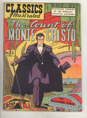 CLASSICS ILLUSTRATED #3 HRN 60 THE COUNT OF MONTE CRISTO by Dumas FINE