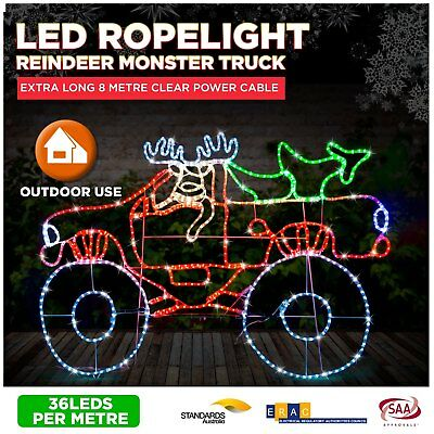 Christmas Lights Outdoor LED Controllable Flashing Rope 4 in 1 Star Multi Colour