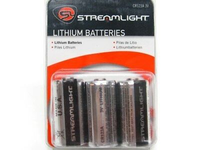 STREAMLIGHT Replacement LITHIUM CR123A 3V Flashlight Batteries Battery 6 Pack!