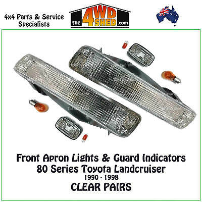 FRONT APRON GUARD INDICATORS PACK suit TOYOTA LANDCRUISER 80 SERIES OFFROAD USE