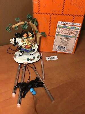 """Enesco Friends of the Feather """"Love Reins"""" Couple on Horse Windchime 584355"""