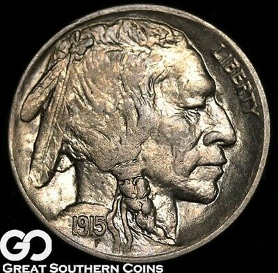 1915-D Buffalo Nickel, Very Tough This Nice, Solid Gem BU++ Key Date, Free S/H!