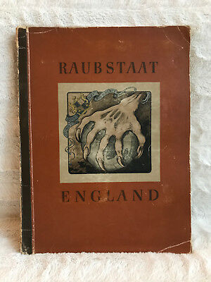 1941 German Cigarette Card Album Raubstaat England Opium Cigaretten-Bilderdienst