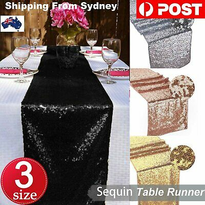 275cm Sequin Table Runners Wedding Party Bling Tablecloths Tablecover Party Even
