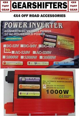 1000W-2000W Max 12V-220V Modified Sine Wave Power Inverter With USB Charger AU