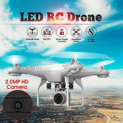 170Wide Angle Lens HD Camera Quadcopter RC Drone WiFi FPV Live Helicopter Hover