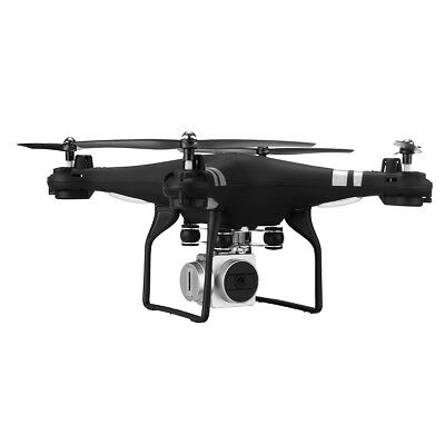 170 Wide Angle Lens Cam Quadcopter RC Drone WiFi FPV Live Helicopter Hover Black