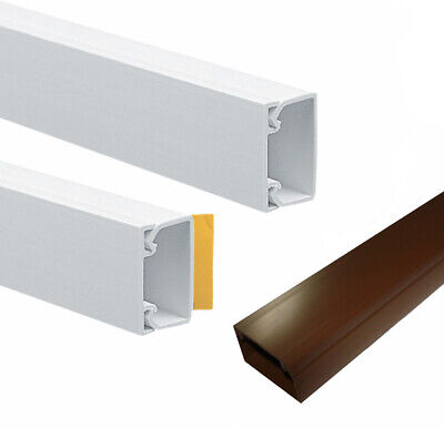 Self Adhesive PVC Plastic Electrical Mini Trunking Cable Tidy Supplied By Metre