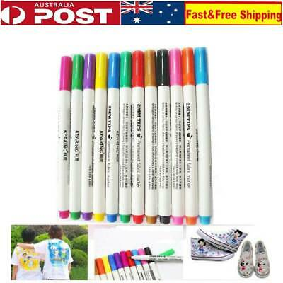 24PCS DIY Fabric and T-Shirt Liner Markers Shoes Clothes Textile Painting Pens