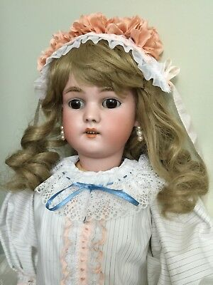 """Antique Bisque Doll By Simon & Halbig ' Baby Blanche ' On A Comp Body 23"""""""