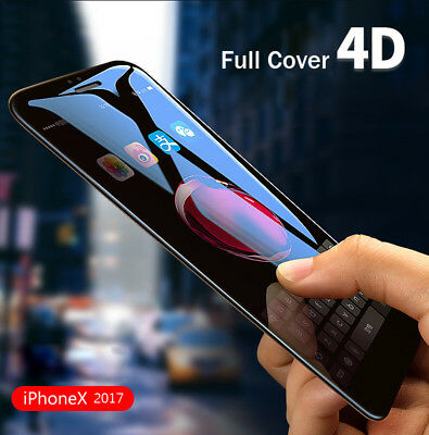 4D 5D Full Cover Real Tempered Glass Screen Protector For iPhoneX 7 8 6 Plus