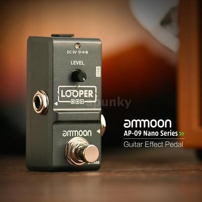 ammoon E-Gitarreneffekt Pedal Looper True Bypass Unlimited Overdubs USB P4U0