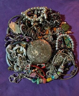 mix lot old/vintage/new Junk Drawer Jewelries