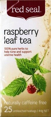 Red Seal Raspberry Leaf Tea Bags 25 pack x 3 ( 75s)