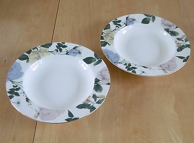 Pair Of Portmeirion For Ted Baker Fine Bone China Rosie Lee Soup Bowls (BN)