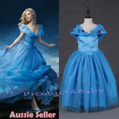 Girl Cinderella Dresses Costume Long Tulle Pageant Prom Ball Gown Dress 2-10 Yrs