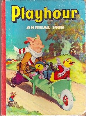 PLAYHOUR ANNUAL 1959 Gran'pop Sonny Sally Mimi Marmy Rare child's collectable VG