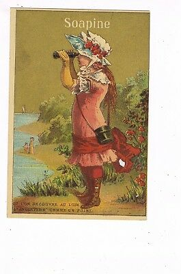 VICTORIAN ADVERTISING / TRADE Card  SOAPINE / KENDALL MFG. CO - PROVIDENCE, RI