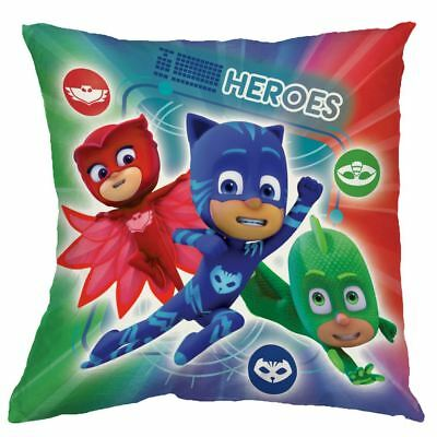 Official Pj Masks Heroes Vs Villains Filled Cushion Reversible Chlidrens