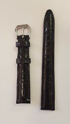 14mm Black Crocodile Oris Strap New 1/2 14 14