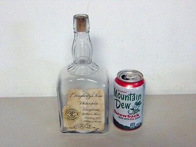 Pre Prohibition A Overholt Dougherty's Sons Whiskey Bottle FREE S&H NO RESERVE