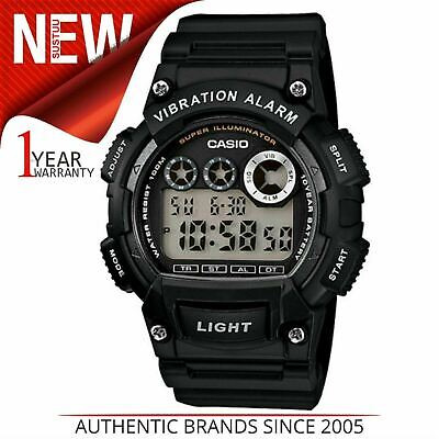 Casio W735H/1A Men Digital Watch│Waterproof│Stopwatch│Vibration Alarm│Dual│Black