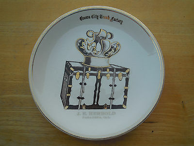 Pasadena California Plate Crown City Trunk Factory J E Herbold