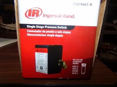 NEW Ingersoll Rand 23474661-R Single Stage Pressure Switch FREE SHIPPING!