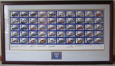 NASCAR 50th Anniversary GOODYEAR Card Set AUTOGRAPHED by 10 Drivers 109/500