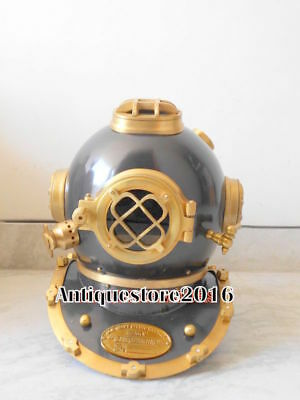 Brass Solid Antique Divers Diving Helmet U S Navy Mark Collectible Marine Gift