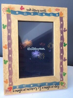 walt disney world picture frame magical day 4x6 wooden mickey mouse - Disney World Picture Frames