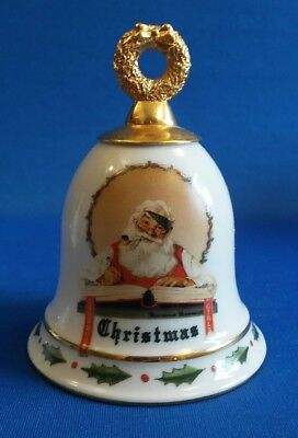 "Norman Rockwell Santa Christmas Bell 1929 / 1992 William Blake 4 1/2"" H."