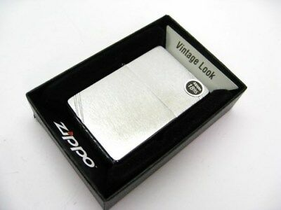ZIPPO Brushed Chrome Vintage Series 1937 w/ Slashes Windproof Lighter Model 230