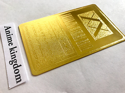 USA Seller Cosplay Hunter x Hunter 1 Star Hunter License Card Golden Metal Card