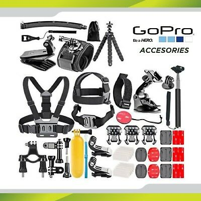 48 in 1 for GoPro Hero Accessory kit 7 6 5 4 3+ Mount Case Head Chest Strap Pole