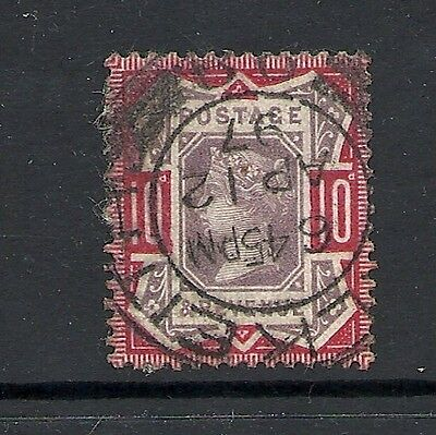 1887 Queen Victoria  SG210 10d Purple and Red CV £38 used GREAT BRITAIN