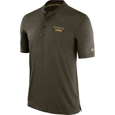 919ee2f3474 PITTSBURGH STEELERS MEN S NIKE Olive Salute to Service Sideline Polo ...