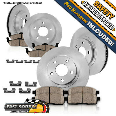 """Brake Rotors 2 FRONT 2 REAR ELINE /""""CROSS DRILLED/"""" PERFORMANCE DISC RO32193"""