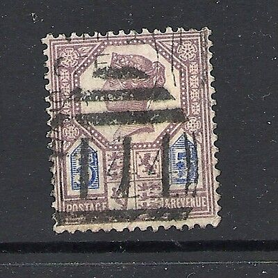 1887 Queen Victoria  SG207a 5d Purple and Blue used GREAT BRITAIN