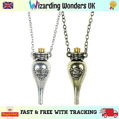 Harry Potter Liquid Luck Necklace Felix Felicis Potion Bottle Pendant Gift