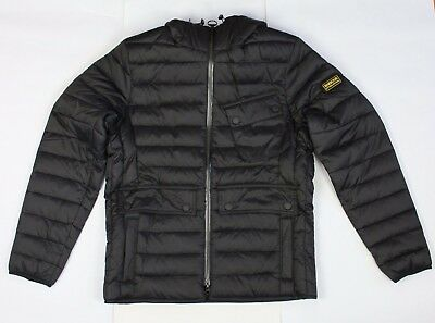BRAND NEW - Barbour International Ouston Black Quilted Jacket-L-MSRP $299