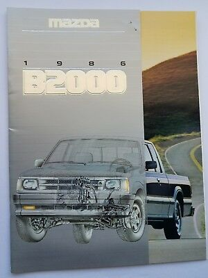 Vintage 1986 MAZDA B2000 Pick Up Truck Sales Brochure EXC+ 20 Pages Free Ship