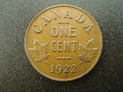 1922 Canada One Cent 1c Coin **NO RESERVE**